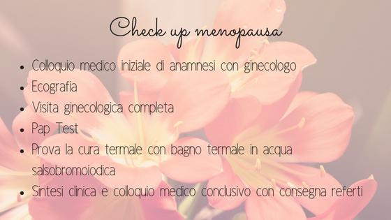 Check up menopausa alle Terme di Salsomaggiore