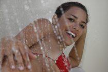 doccia termale con acqua termale